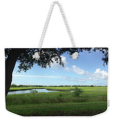 Weekender Tote Bag featuring the photograph Harbor Island Blue Sky by Phil Mancuso