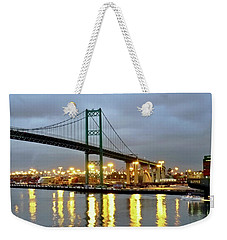 Harbor Lights In San Pedro Weekender Tote Bag