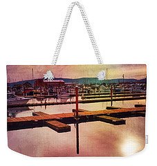 Weekender Tote Bag featuring the photograph Harbor Mood by Chriss Pagani