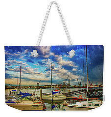 Harbor Scene Weekender Tote Bag
