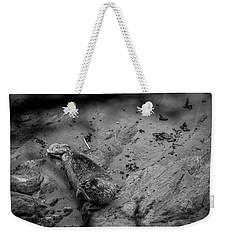 Harbor Seal Pup Monochrome  Weekender Tote Bag