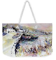 Harbor Shapes Weekender Tote Bag by Rae Andrews
