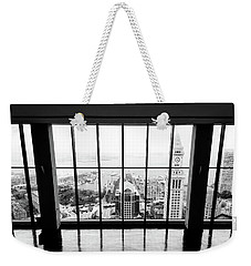 Weekender Tote Bag featuring the photograph Harbor View by Greg Fortier
