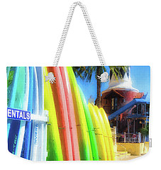 Weekender Tote Bag featuring the photograph Harbor Walk At Destin Florida by Mel Steinhauer