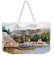 Harbour Scene Weekender Tote Bag by Larry Hamilton