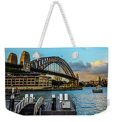 Weekender Tote Bag featuring the photograph Harbour Sky by Perry Webster