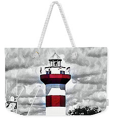 Harbour Town Lighthouse Weekender Tote Bag by Tara Potts