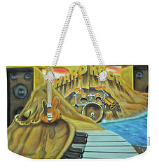 Weekender Tote Bag featuring the painting Hard Rock by Thomas J Herring