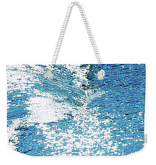 Hard Water Abstract Weekender Tote Bag by Menega Sabidussi