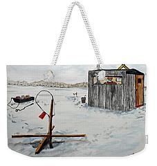 Hard Water Fishing Weekender Tote Bag