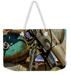 Weekender Tote Bag featuring the photograph Harley Davidson - American Icon II by Bill Gallagher