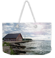 Weekender Tote Bag featuring the photograph Hardy Gallery by Joel Witmeyer