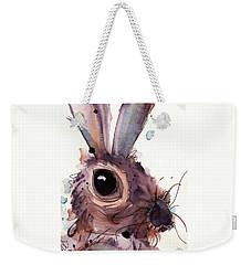 Hare Weekender Tote Bag by Dawn Derman