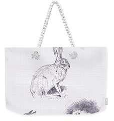 Hare Studies Weekender Tote Bag by Archibald Thorburn