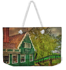 Weekender Tote Bag featuring the photograph Haremakerij At The Brook by Hanny Heim