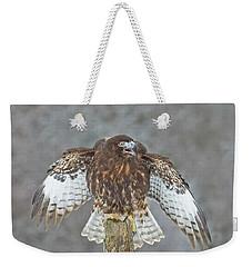 Harlan's Hawk Weekender Tote Bag by CR Courson