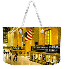 Weekender Tote Bag featuring the photograph Grand Central Pride by M G Whittingham