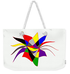 Harlequin Flower Weekender Tote Bag