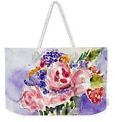 Harlequin Or Bright Side Of Life Weekender Tote Bag by Jasna Dragun