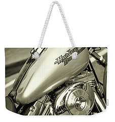 Weekender Tote Bag featuring the photograph Harley At Bentley's by Samuel M Purvis III