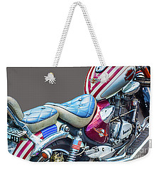 Weekender Tote Bag featuring the photograph Harley by Charuhas Images