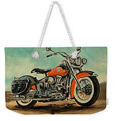 Harley Davidson 1956 Flh Weekender Tote Bag