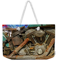 Weekender Tote Bag featuring the photograph Harley Davidson - An American Icon by Bill Gallagher