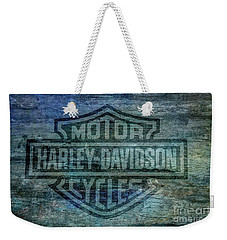 Harley Davidson Logo Weathered Wood Weekender Tote Bag