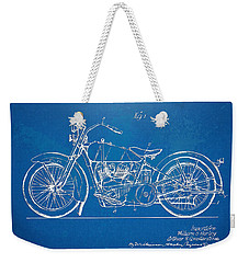 Harley-davidson Motorcycle 1928 Patent Artwork Weekender Tote Bag