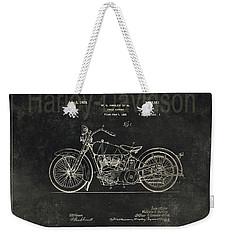 Harley - Davidson Motorcycle Patent Drawing - Graphite Weekender Tote Bag