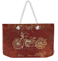 Harley - Davidson Motorcycle Patent Drawing Weekender Tote Bag