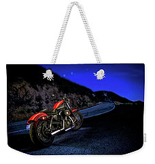 Weekender Tote Bag featuring the photograph Harley Davidson Nightster by YoPedro