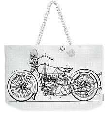 Harley Davidson Patent Weekender Tote Bag by Taylan Apukovska