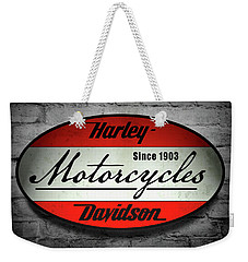Harley Davidson Vintage Shop Sign  1903 Weekender Tote Bag