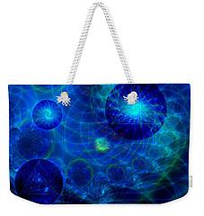 Harmonic Galaxies Weekender Tote Bag by Fran Riley