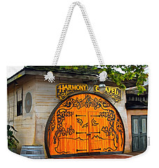 Weekender Tote Bag featuring the photograph Harmony Chapel Harmony California by Barbara Snyder