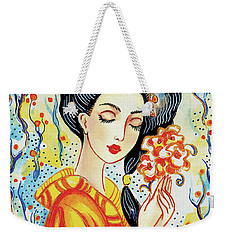 Harmony Flower Weekender Tote Bag