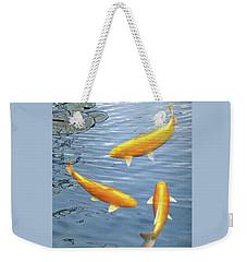 Harmony - Golden Koi Weekender Tote Bag by Gill Billington
