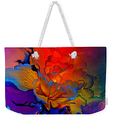 Weekender Tote Bag featuring the painting Harmony by Hanne Lore Koehler