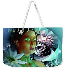 Weekender Tote Bag featuring the digital art Harmony by Shadowlea Is