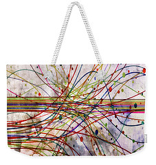 Weekender Tote Bag featuring the digital art Harnessing Energy 1 by Angelina Vick
