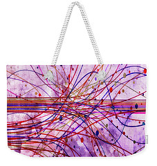 Weekender Tote Bag featuring the digital art Harnessing Energy 2 by Angelina Vick