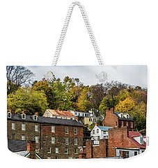 Weekender Tote Bag featuring the photograph Harpers Ferry In Autumn by Ed Clark