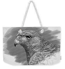 Harris Hawk Drawing Weekender Tote Bag by Kathie Miller