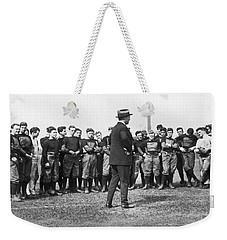 Harvard Football Practice Weekender Tote Bag by Underwood Archives