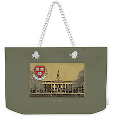 Harvard University Building Overlaid With 3d Coat Of Arms Weekender Tote Bag