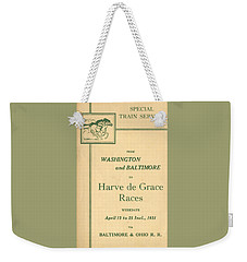 Harve De Grace Races Weekender Tote Bag