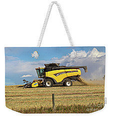 Weekender Tote Bag featuring the photograph Harvest by Ann E Robson