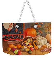 Weekender Tote Bag featuring the painting Harvest Bounty by Nancy Lee Moran