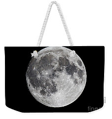 Weekender Tote Bag featuring the photograph Harvest Moon At 99 Pct. Waxing Gibbous by Ricky L Jones